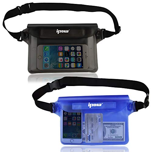 ipow Bolsa riñonera Impermeable [Pack de 2] iPhone,...