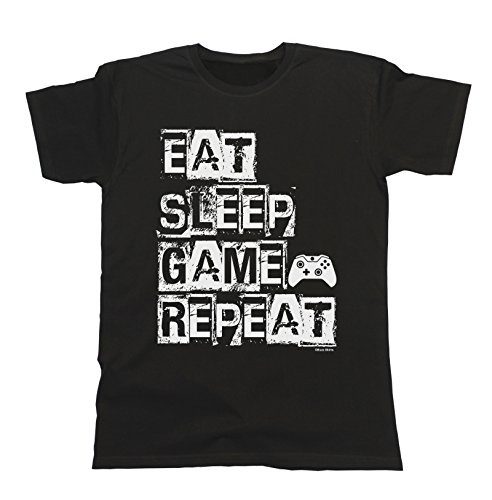 Hombres y Damas Eat Sleep Game Repeat T-Shirt Mens...