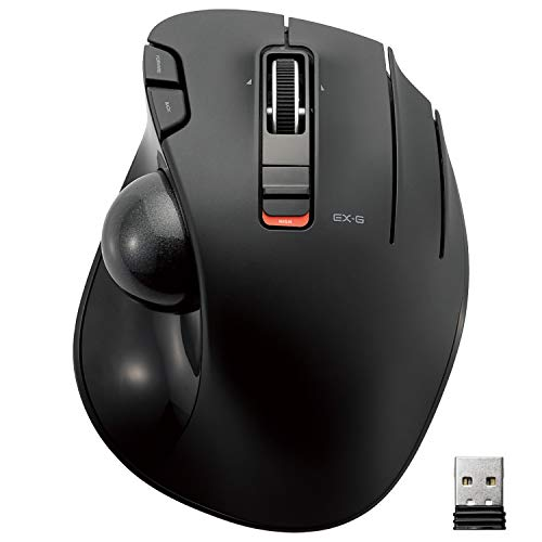 ELECOM Wireless Track Ball Mouse 6 Button Height of The...