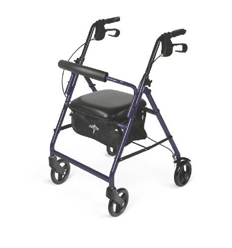 Medline Basic Aluminum Rollator, Purple by Medline