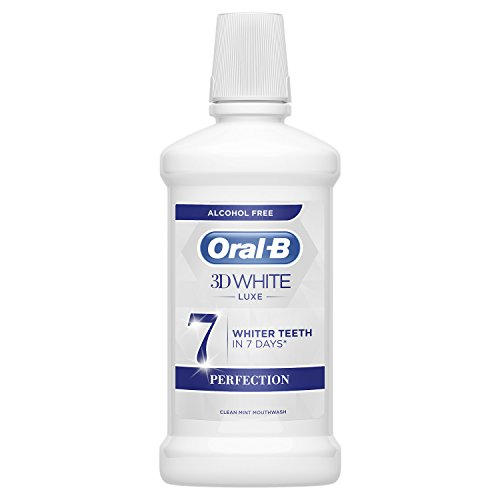 ORAL B enjuague bucal 3D white lux perfection botella...