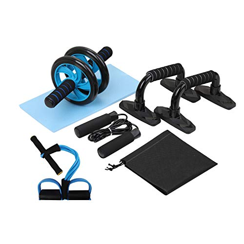 Lixada Rueda Abdominal Kit 4/5 en 1 con Push-UP Bar...