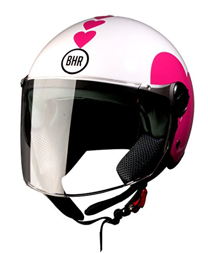 BHR 93774 Demi-Jet Love 710 Casco de Moto, Color...