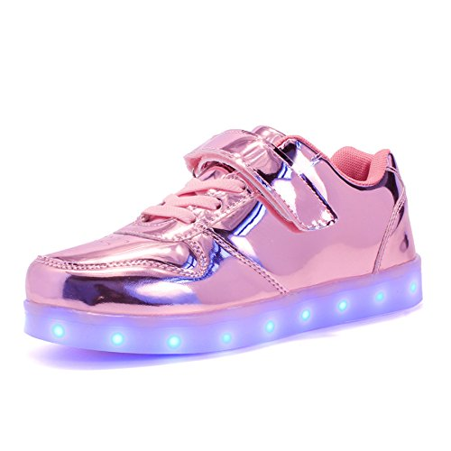 Voovix Kids Low-Top Led Light Up Shoes con Control...