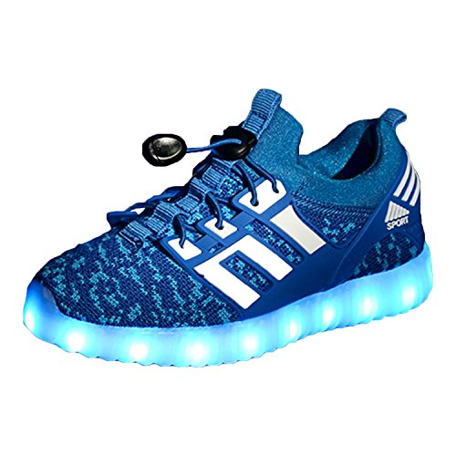 Yeeper LED Zapatillas de 7 Colores de Luces con USB de...