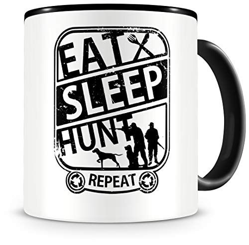 Samunshi® Taza con texto 'Eat sleep Hunt Repeat',...