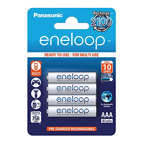 Panasonic Eneloop SY3052685 - Pack 4 piles rechargeables,...