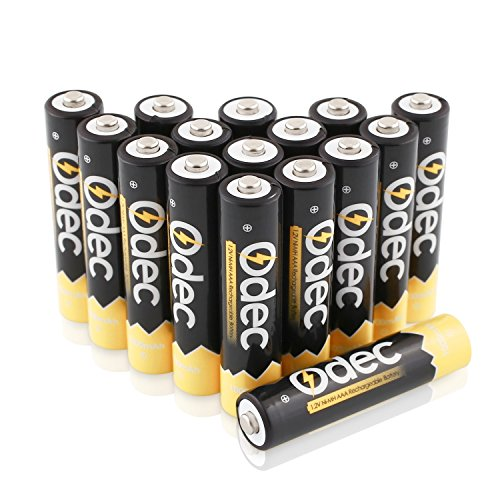 ODEC Piles rechargeables AAA Ni-MH, 1000mAh pour console ...
