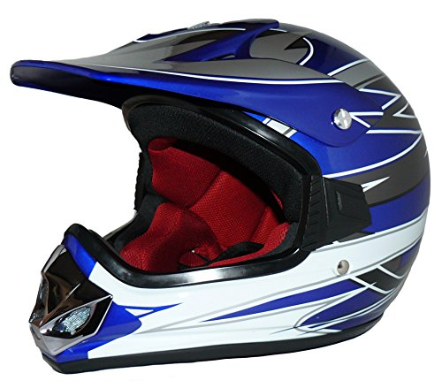 Protectwear Niños Casco Cross MaX Racing azul...